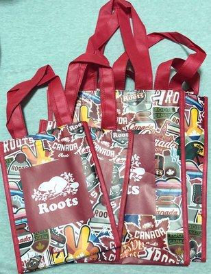 Roots 布貼造型環保袋—中袋A4(含運)