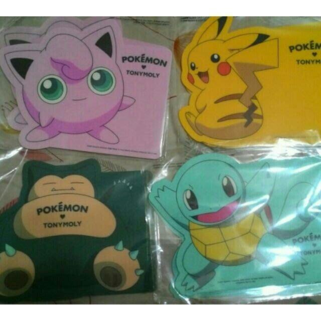限量正版韓國製 Pokemon 寶可夢滑鼠墊共四款