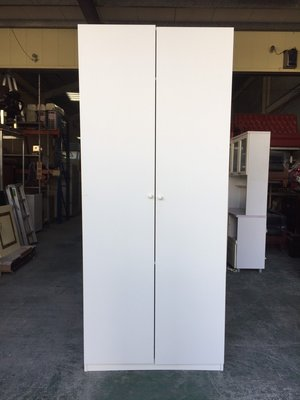 ㊣樂業二手家具買賣廣場㊣  特別亮眼  IKEA 白色挑高衣櫃