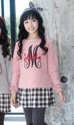 85079女大童(120-165cm)輕刷毛長版衣 上衣(粉色)小魚衣舖