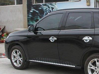 【車王小舖】三菱 Mitsubishi 新款outlander門碗 outlander防刮門碗 新歐藍德門碗 鍍鉻門碗