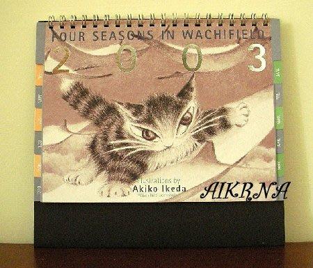 wachifield-dayan 瓦奇菲爾德 達洋 ~ 珍藏品2003桌上型貓咪小月曆
