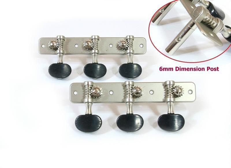 [ 山姆 樂器工作室 ] 台灣製銀色古典吉他弦轉鈕+黑色鈕釦