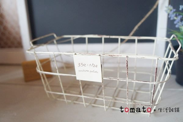 ˙TOMATO生活雜鋪˙日本進口雜貨法式仿舊方格編織雙手把收納籃