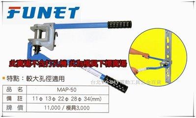 【台北益昌】FUNET 輕鋼架打孔機 輕隔間支架打孔機 省力型 MAP-50 模具下標區