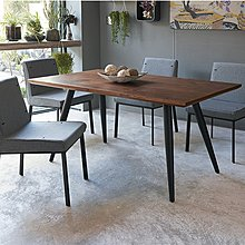☆[新荷傢俱]G741☆工業風5尺厚實木餐桌 *洽談桌  會議桌  *LOFT 鐵藝設計 工業風