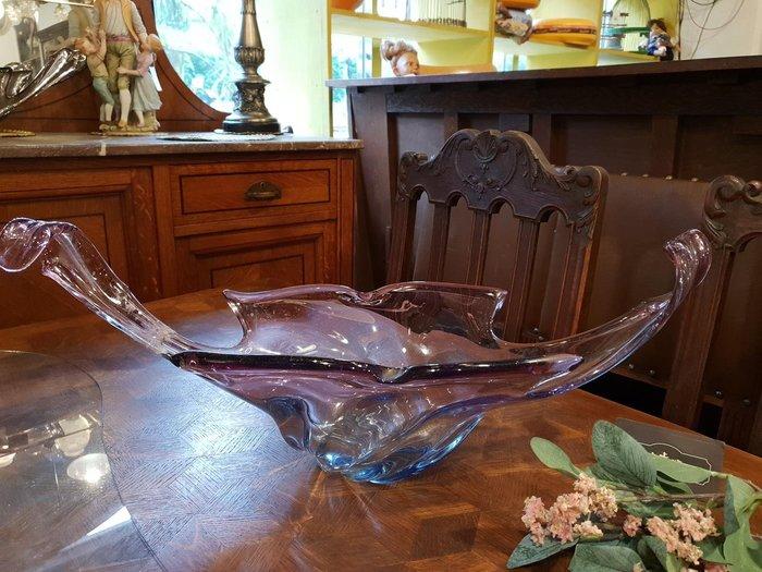 【卡卡頌 歐洲跳蚤市場/歐洲古董】義大利老件_手工玻璃 大型藝術花器 水果盤 收藏 擺飾 g0484(微瑕超值特價)✬