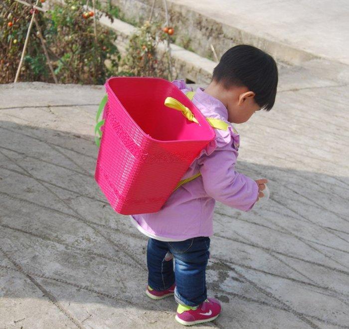 【手工藝竹簍】竹製品竹籃籃子蔬菜籃水果籃籐籃提竹籃子露營拍照道具新款兒童舞蹈道具小背簍小背篼幼兒園玩具收納框塑料小桶