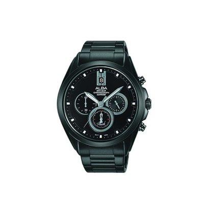 可議價「1958鐘錶城」ALBA雅柏SPECIAL男 廣告款三眼計時 石英腕錶(AT3B07X1)43.6mm