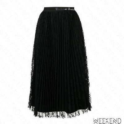 【WEEKEND】 PINKO 雙層 蕾絲 百褶 紗裙 半身裙 黑色