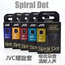全新 JVC Spiral Dot 耳膠 Eartips 5 個 尺碼 一盒 3對