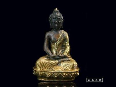 【藏真】文物級.明代銅鎏金《釋迦牟尼佛》法相莊嚴.保真.