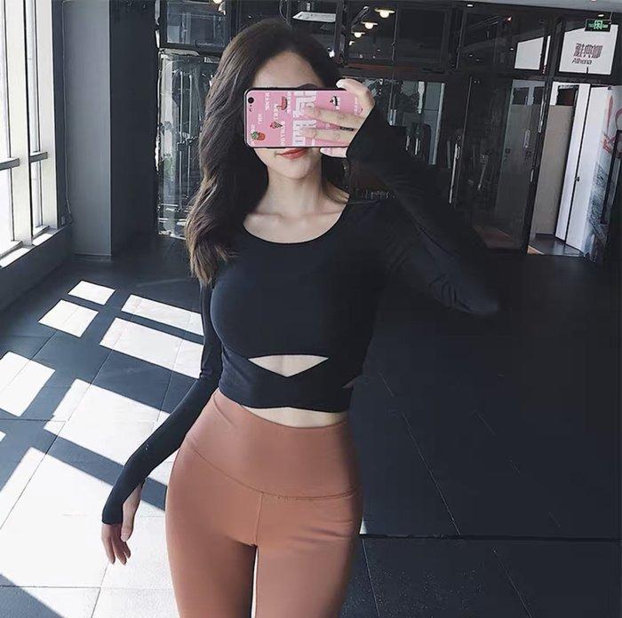 MAXIMUM 性感露肚臍 短版上衣 健身上衣 運動上衣 運動內衣 女生內衣 服飾健身