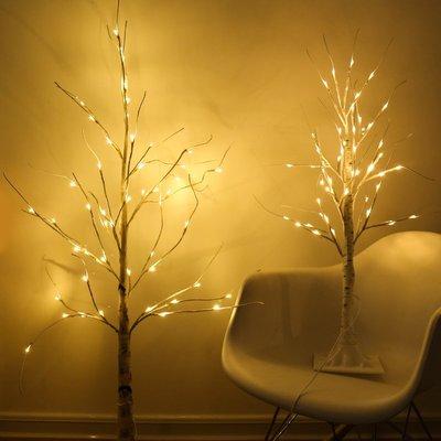 LED禮物白樺樹彩燈網紅臥室布置浪漫房間裝飾燈禮物夜燈網紅燈