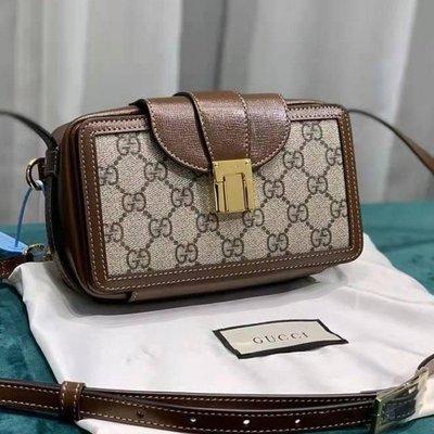專櫃正品 GUCCI 614368 多功能防水布 迷你款箱子包 Mini bag with clasp closure
