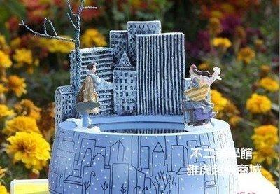 【格倫雅】^幾米之遇見相遇磁場噴泉水池旋轉音樂盒結婚新年禮物情人節生611[g-l-y60