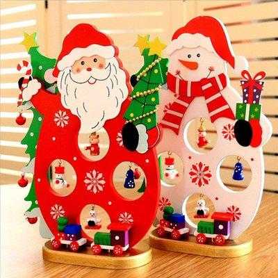 糖衣子輕鬆購【BA0247】聖誕節創意裝飾用品聖誕老公公雪人桌面工藝擺件禮物