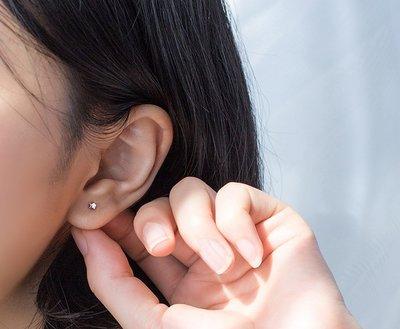 純銀耳環    韓版 可愛亮面 迷你小耳環  一對價  特價