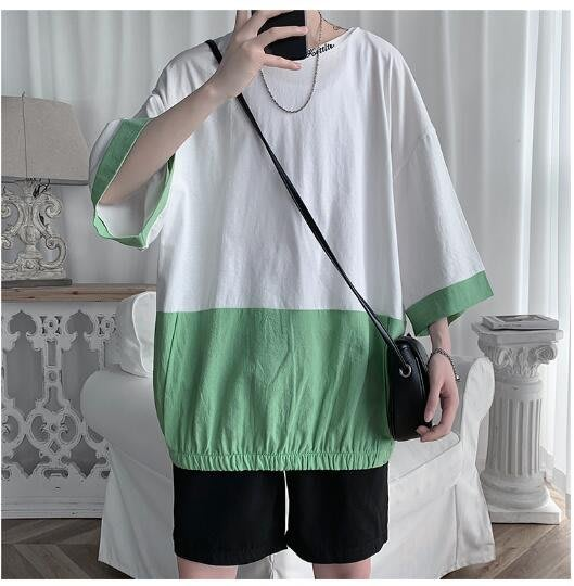 FINDSENSE X  男士 薄款 短袖襯衫 男 花上衣情侶襯衣潮襯衫