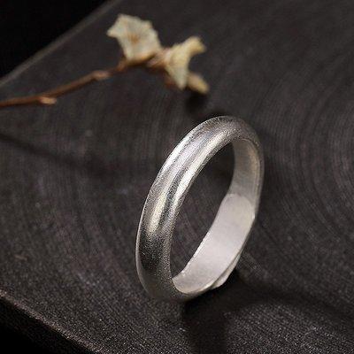 【每日一好物】戒指S925款開口女士壹鹿銀純銀韓版復古簡約個性百搭素銀光版復古風