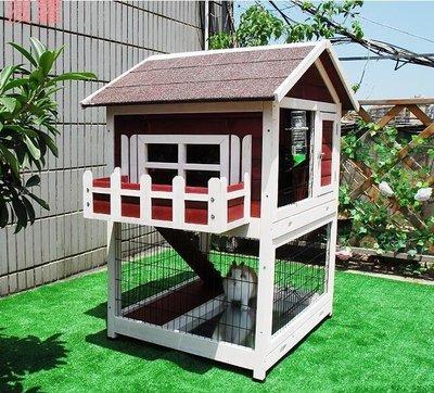 菠蘿petsfit 防雨兔子窩舍兔籠木製超特大號雞籠寵物籠木屋木質松鼠籠