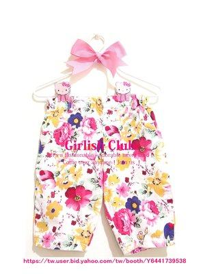 【Girlish Club】春夏女童花卉棉質短褲牛仔褲11(c420)carters gap disney洋裝八一元起標