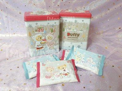 【Meng小舖】日本東京海洋迪士尼 2019聖誕節 冬季 達菲 Duffy 雪莉玫 畫家貓 史黛拉 單售立體鐵盒