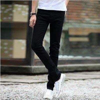 牛仔褲 秋季男士牛仔褲修身型長褲秋天男裝青少年彈力小腳褲sys