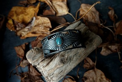 【Monolith】生來狂野二店全新品 kingman綠松14K包鑲寬版手環  職人手作 Navajo 印地安風格