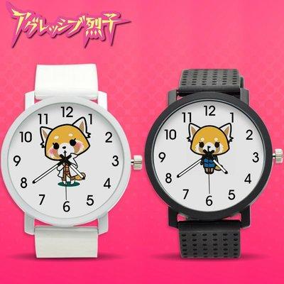 家居生活-Aggressive沖吧烈子卡通石英錶動漫周邊學生男女手錶腕錶膠帶禮物