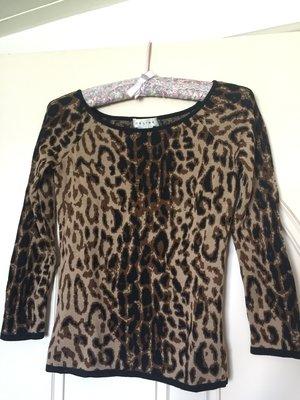 義大利製 CELINE 豹紋毛衣