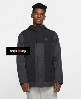 【Simple Shop】NIKE LEBORN LOGO 鋪棉 連帽外套 厚外套 運動外套 黑 AT3903-010
