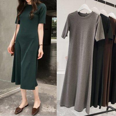 黑色洋裝連身裙正韓版夏季新款韓版顯瘦短...