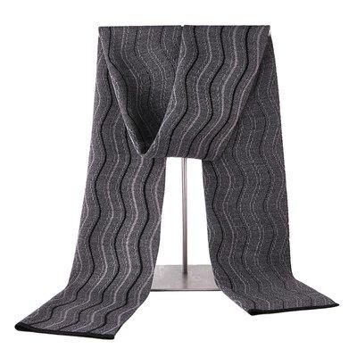 圍巾 針織披肩-波浪條紋提花羊毛男配件3色73wi48[獨家進口][米蘭精品]
