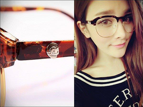 Miss Banana 太陽眼鏡 (現貨)【MP-8004-0785】亞歷山骷髏頭復古圓形男女造型鏡架
