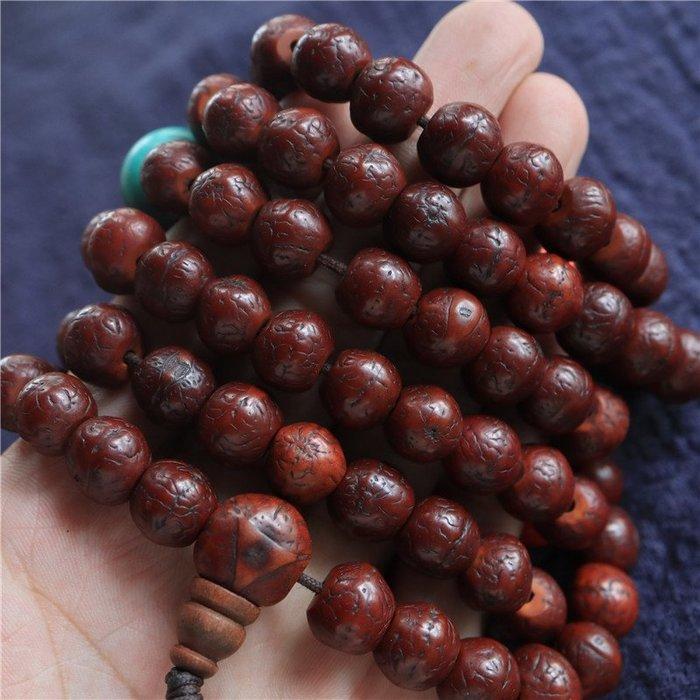 【弘慧堂】  西藏老鳳眼菩提子佛珠念珠藏民使用顏色均勻漂亮108顆足數