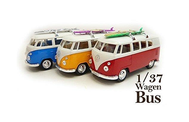 (I LOVE樂多)VW T1 Volkswage 福斯 衝浪 麵包車 模型迴力小汽車1/37 收藏裝飾情境擺飾