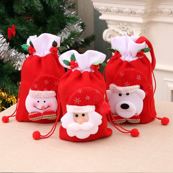 聖誕飾品 聖誕禮品包裝束口袋 派對裝飾 麋鹿雪人玩具 交換禮物 聚會居家 平安夜 節慶萬用 慶祝【PMG288】收納女王