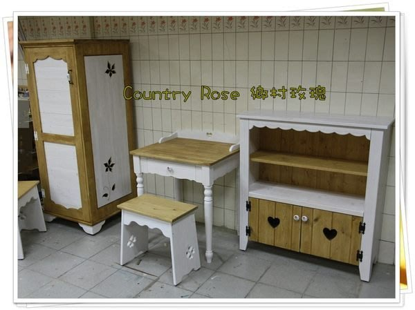 鄉村家具訂製 手工家具訂製 高雄木工坊 實木家具 圓木家具訂製 - 鄉村玫瑰