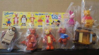絕版收藏 Yujin Disney 維尼及好朋友2 積木 全7款 現貨~