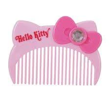 41+ 現貨不必等 正版授權Hello Kitty臉蛋造型扁梳 MT-743KT 粉 銀 金    my4165