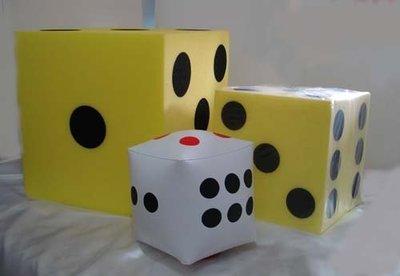 充氣骰子/18豆子/大骰子/吹氣骰子/加厚款45cm另有大骰子20cm&35cm60cm80CM正方. 玩遊戲愉樂必需品