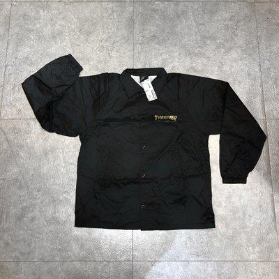 【FAITHFUL】THRASHER PENTAGRAM COACH JACKET【115108】風衣外套 黑 教練外套