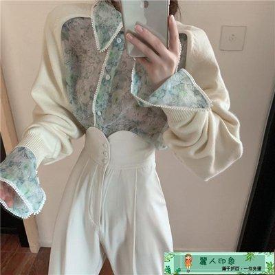疊穿上衣 宮廷風襯衫女設計感小眾秋裝新款復古氣質襯衣長袖疊穿上衣潮 可開立發票-【MAX衣捨】