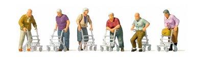 傑仲 (有發票) 博蘭 公司貨 Preiser 人物組 Elderly people with 10718 HO