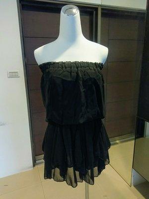 琳達購物中心-實品拍攝-時尚百搭性感雪紡連身裙
