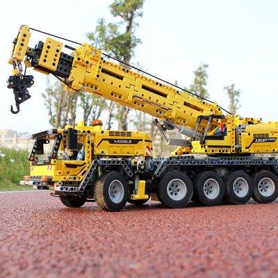 【聚緣閣】宇星機械吊車兼容樂高42009科技系列遙控電動挖掘機拼裝積木玩具