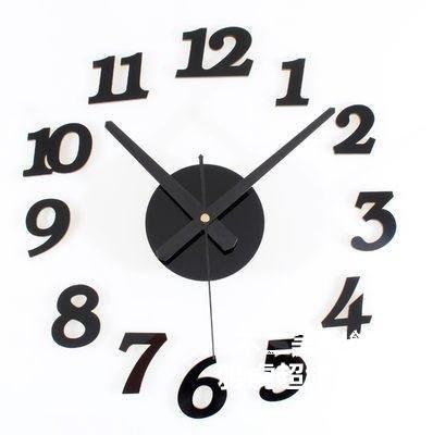亞克力水晶DIY趣味時鐘組合數字掛鐘壁鐘創意簡約靜Lc_816