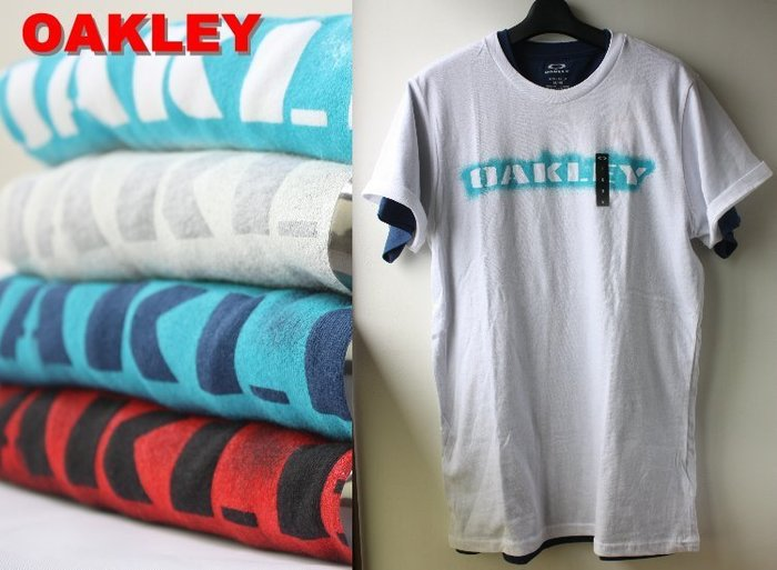 特價【美國知名運動品牌 OAKLEY】100% 全新正品 純棉 運動 短袖 T恤 【S M L】OAKT01