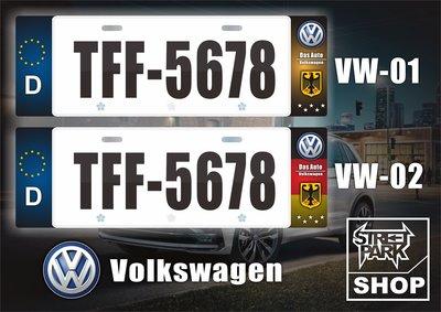 【STREET PARK】訂製 歐盟 車牌裝飾 VW Golf Tiguan 全車系通用【原價780$ 特價 580$】